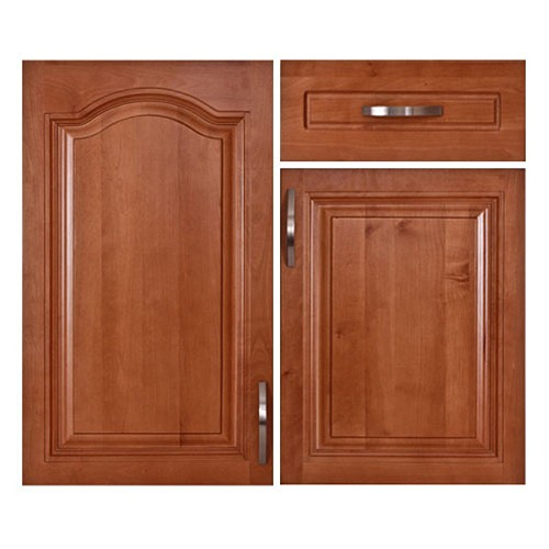 Honey natural wooden cabinets